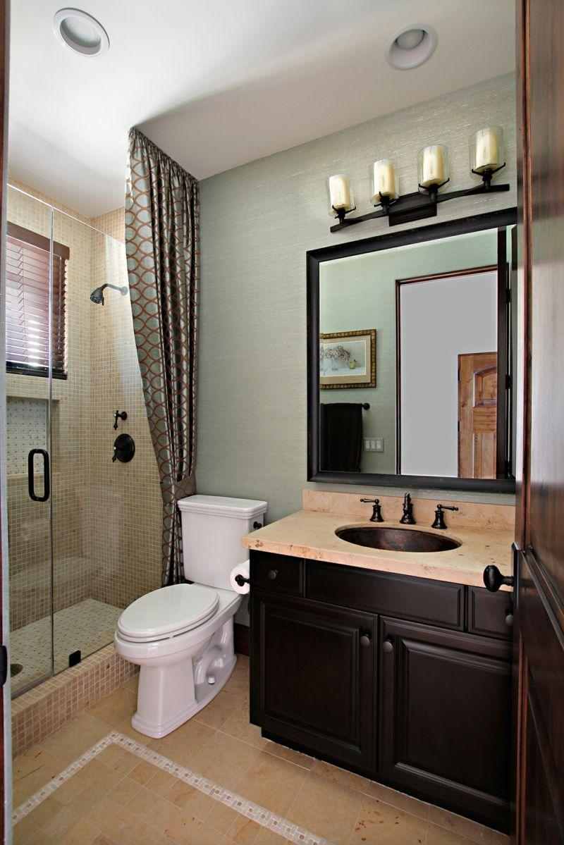badezimmer gestaltung modern dunkelbraun holz unterschrank - Badezimmergestaltung Modern
