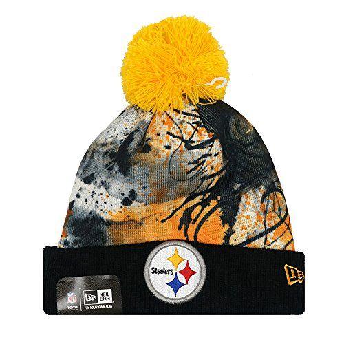 30a2e1a0de1 New Era NFL Scenic Cover Splatter Team Pom Beanie (Steelers) NFL http