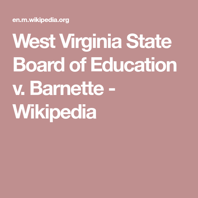 board of education v barnette