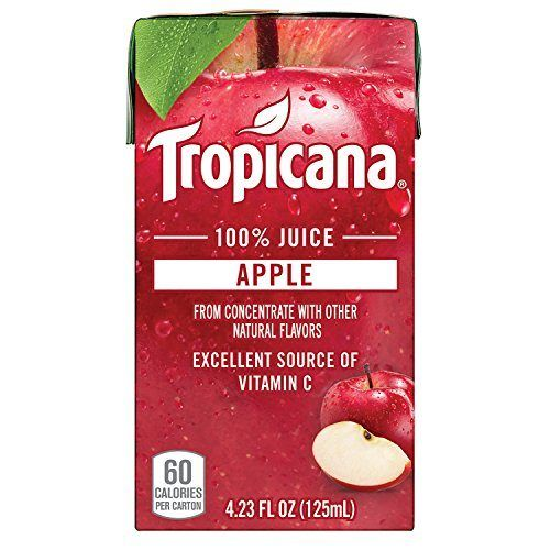 Tropicana 100 Juice Box, Apple Juice, 4.23oz, 44 Count