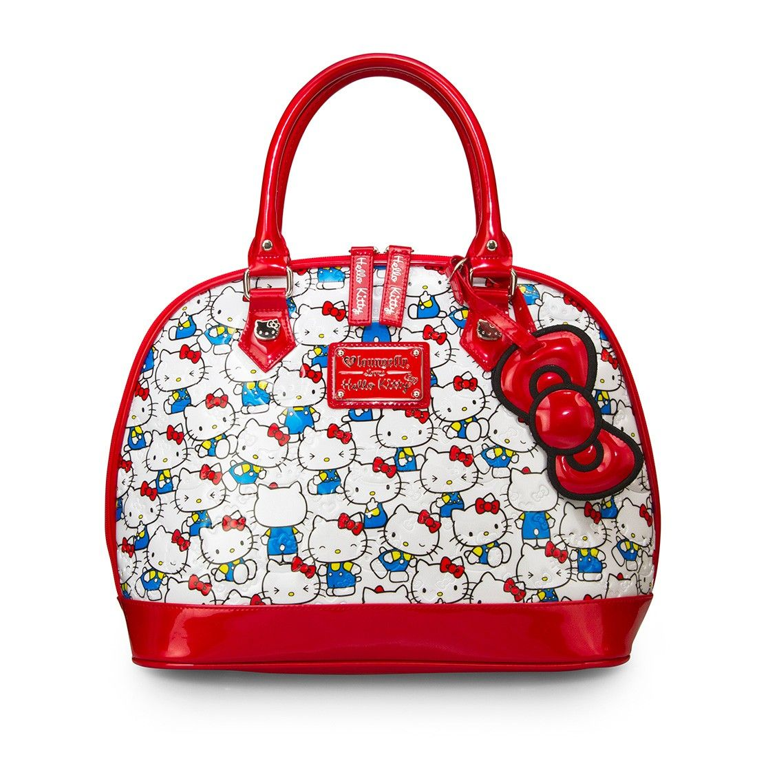 9617379de Hello Kitty Vintage Print Patent Embossed Bag - Hello Kitty - Brands ...