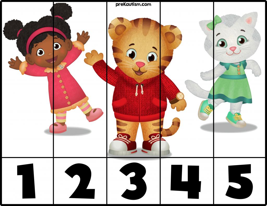 Daniel Tiger 1 5 Puzzles