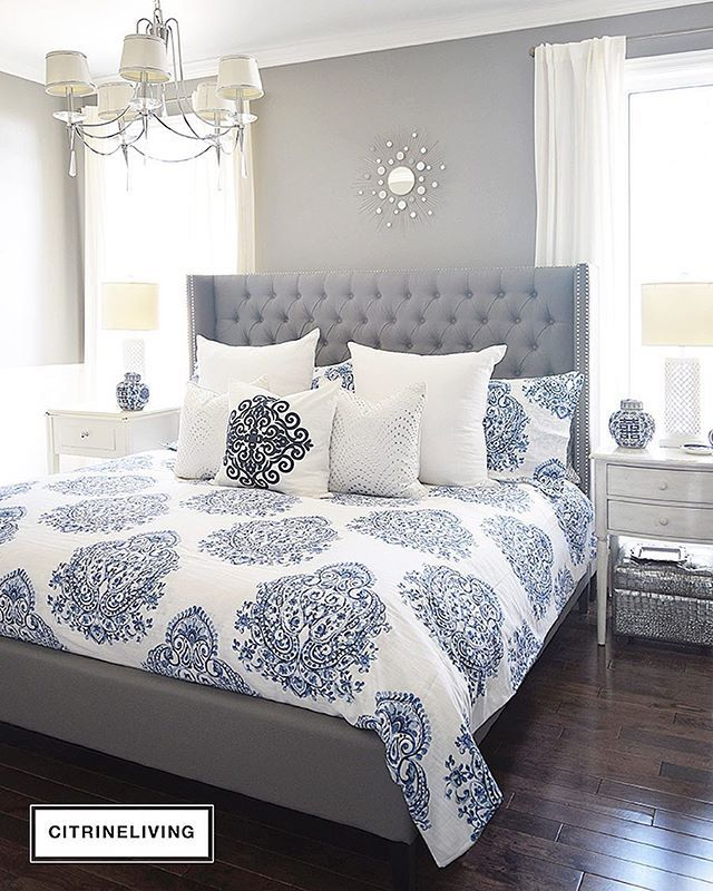 Iu0027m In Love With Our New Blue And White Bedding And How Much It. Bedroom  SetsGray ...