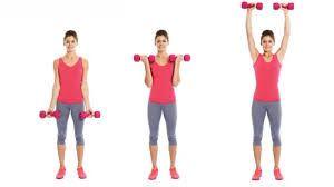 biceps curl with shoulder press