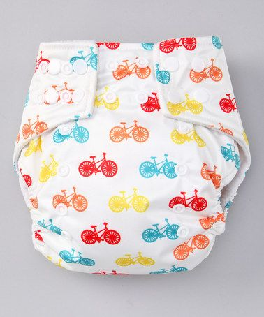 Another great find on #zulily! White Bicycle Pocket Diaper by Lotus Bumz #zulilyfinds