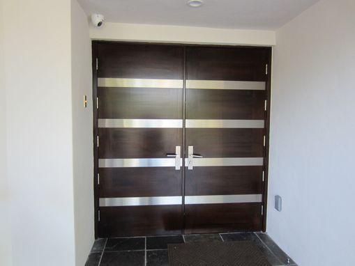 modern exterior door on modern double doors designs for the exterior space custommade com - Modern Exterior Metal Doors