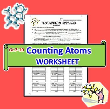 Counting Atoms in Molecules - Worksheet {Editable} | by Tangstar Science | $2.50