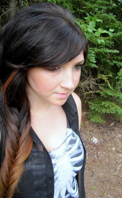 Full set  Ombre hair extensions 70 grams dark brown by ForestNine, $135.00