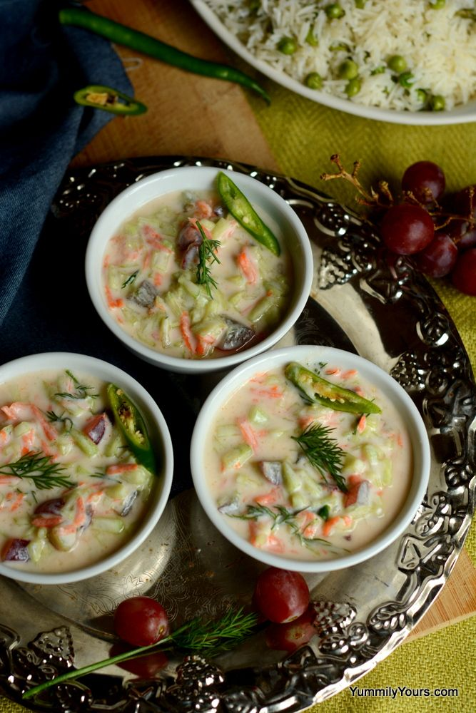 Grape raita with dill recipe food indian food recipes and recipes grape raita with dill indian mealindian foodscurd recipeindian forumfinder Images