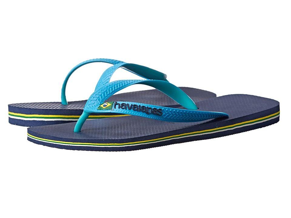 9a7aabf11 HAVAIANAS HAVAIANAS - BRAZIL MIX FLIP FLOPS (NAVY BLUE TURQUOISE) MEN S  SANDALS.  havaianas  shoes