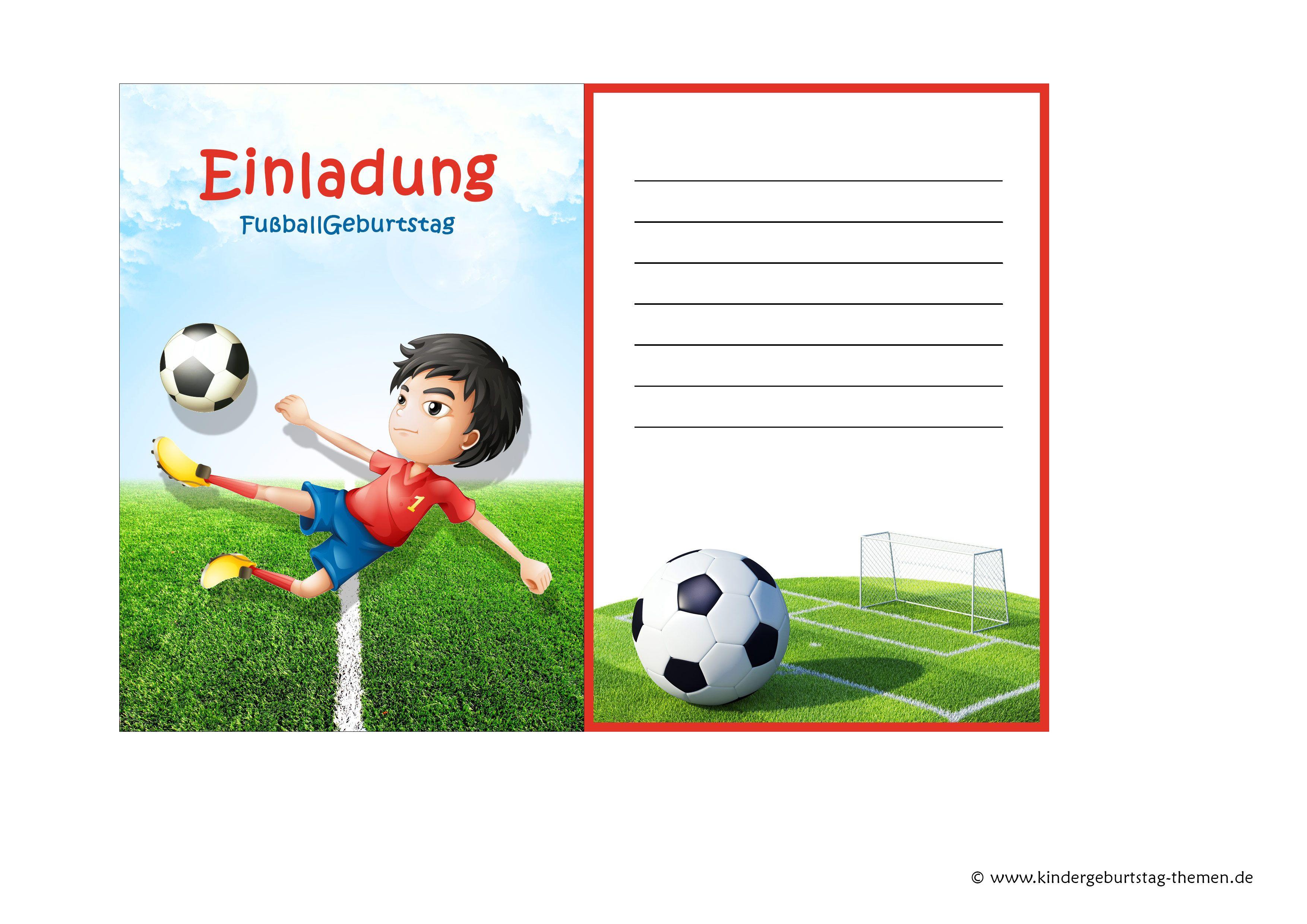 Fussball Einladung Kostenlose Vorlagen Zum Ausdrucken Einladungskarten Kindergeburtstag Geburtstagseinladungen Kindergeburtstag Einladung Kindergeburtstag