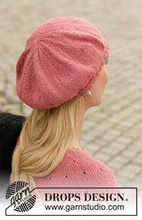 Market Flair - Knitted beret in DROPS Puna. - Free pattern by DROPS Design