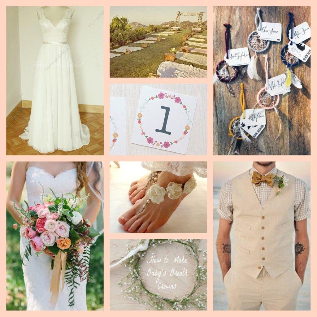 Budget Wedding Inspiration Boards Boho Style In San Diego
