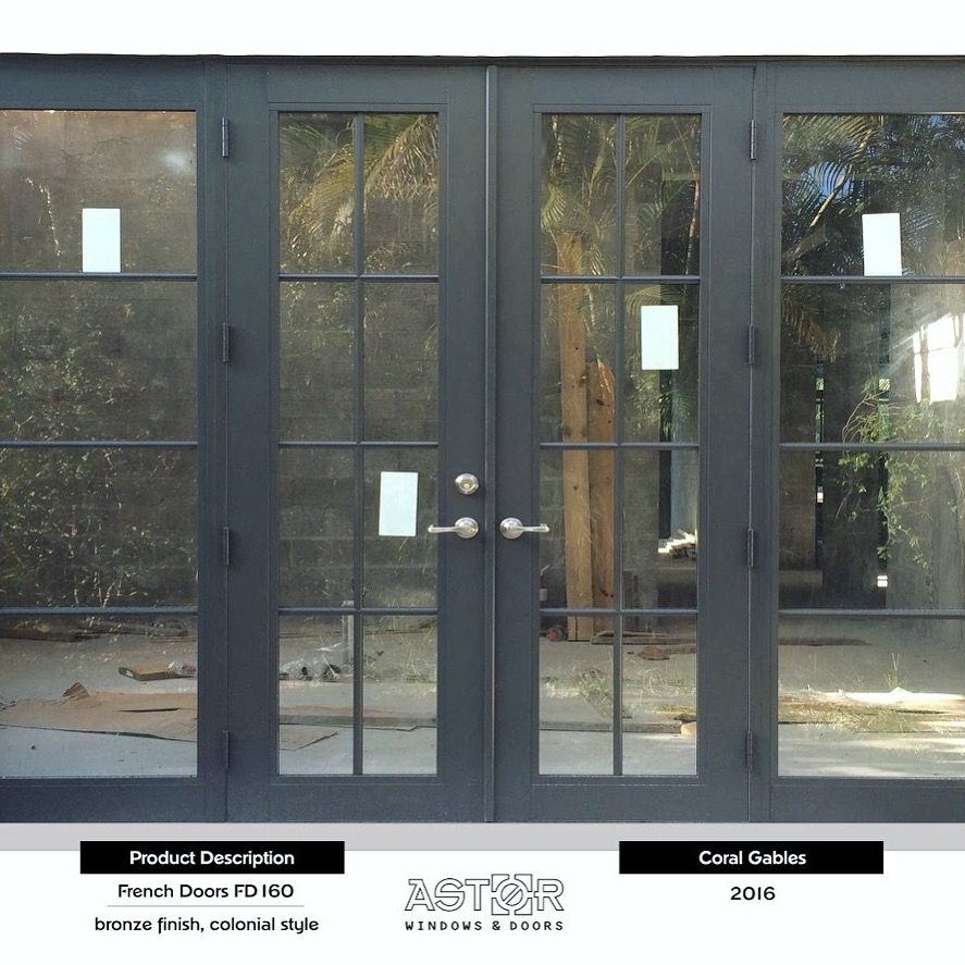 Completed Project Of Impact Resistant Windows And Doors In Coral Gables Florida The Picture Features Fre French Doors Hurricane Impact Windows Impact Windows