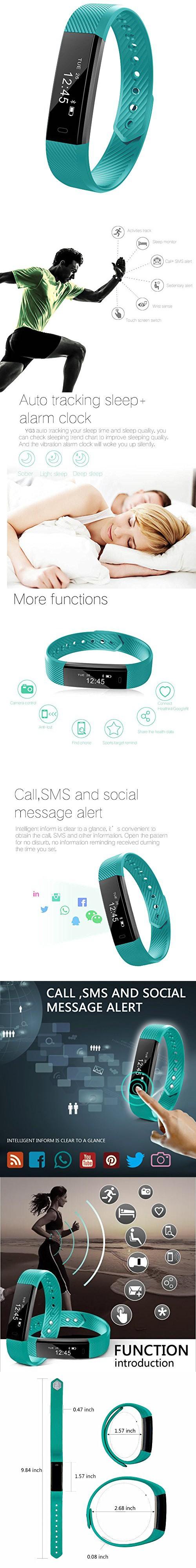 Fitness Activity Tracker, 11TT YG3 Sport Bracelet Wristband ...
