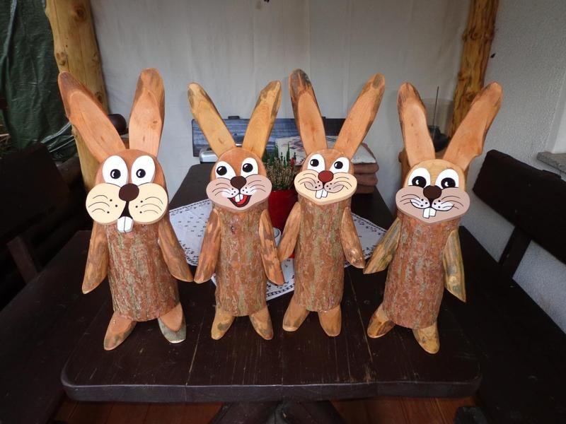 Deko Hase Baumstamm Osterhase Ostern Basteln Holz Basteln Mit Baumscheiben Weihnachten Osterhasen Basteln