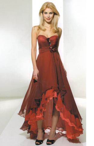 Hochzeitsgäste Kleidung, Ein Ballkleid Mit Einer Kombination Aus Zwei Farben Es Sieht Elegant Und Graziös, Einfache, Aber Immer Noch Lebendig