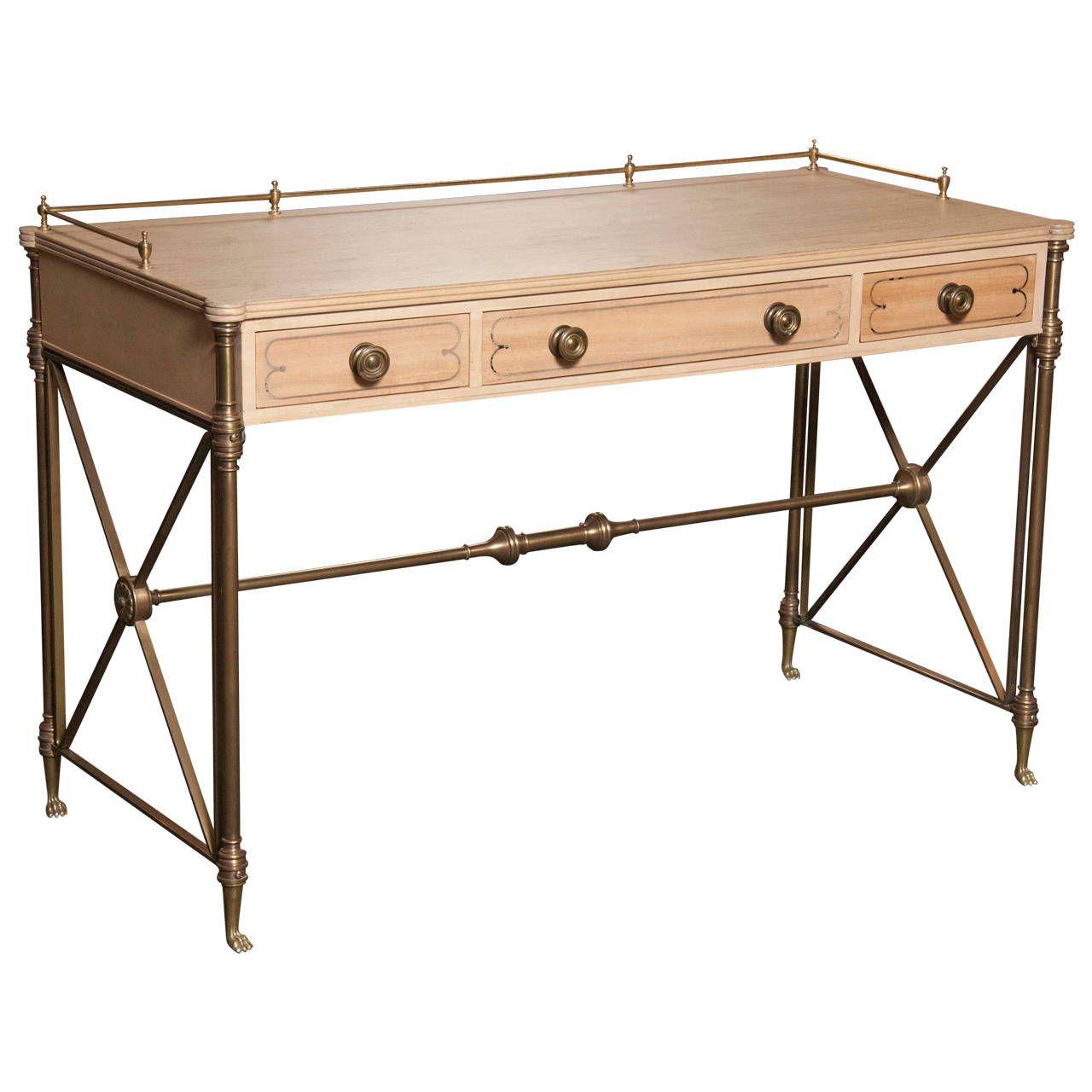 Regency Style Campaign Desk - Regency Style Campaign Desk Campaign Desk, Regency And Desks