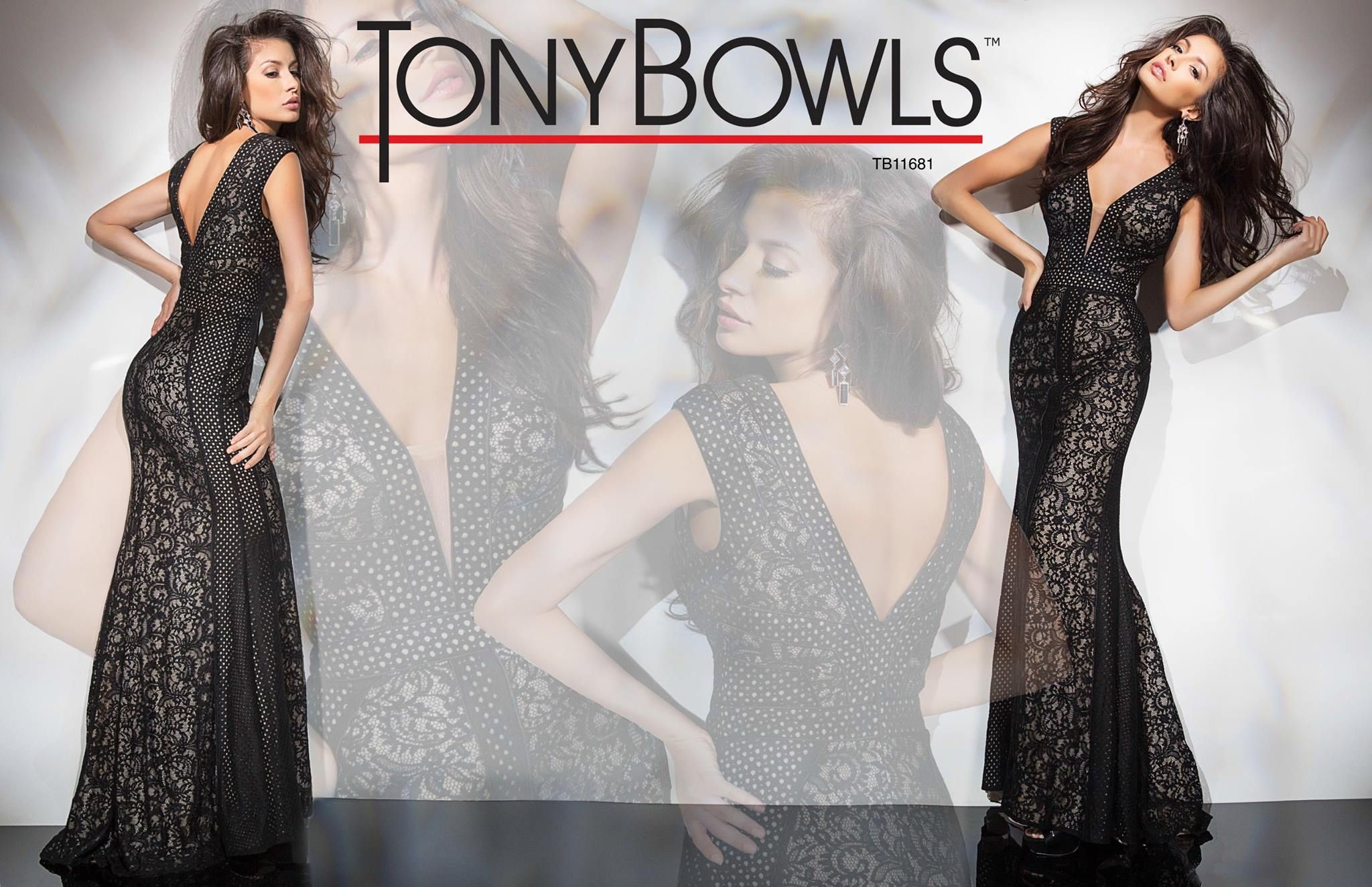 Tony Bowls TB11681 - Black - Size 6 & Royal - Size 12 - Available at Stella's Bridal & Evening Collections