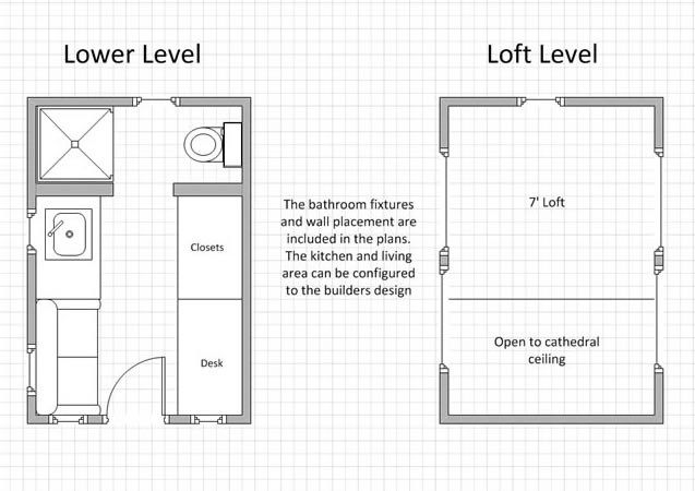 Tiny House Marketplace House Details Tinier Living Tiny House Tiny House Exterior Tiny House Floor Plans Small House Design