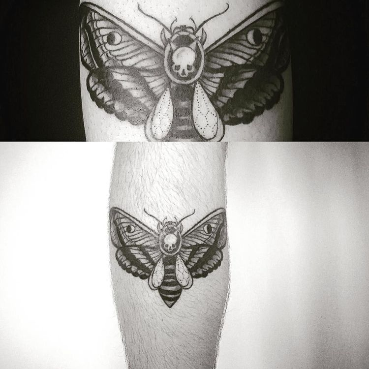 Tattoo Nachtfalter Topenkopf Wade Moth Tattoo Tattoos First Tattoo