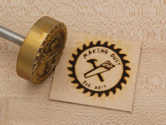 Branding Iron 2 Round Custom Designed For Wood Etsy Branding Iron Custom Design Design