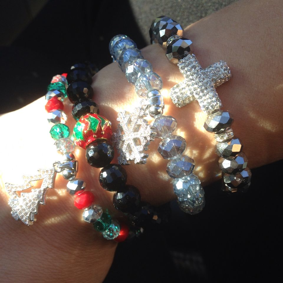 Crystal bling for Christmas  beads by Sonz
