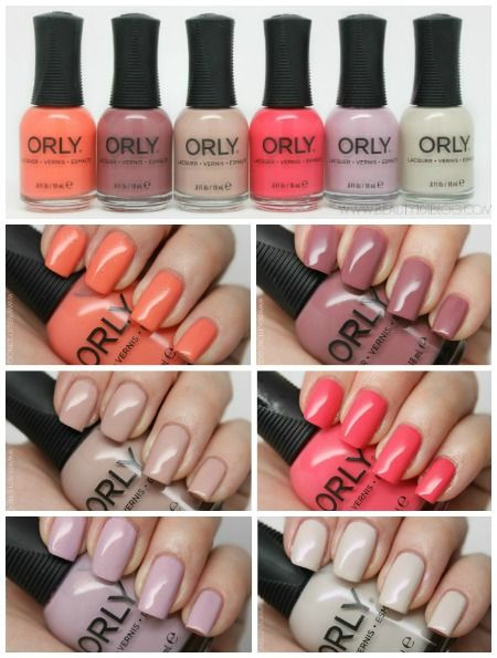 Orly Blush Collection Review Swatches Loving These Nail Polish Colors For Spring Nailpolish Nails Beauty