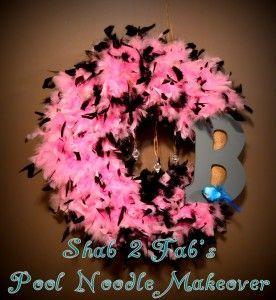 Shab 2 Fab's Pool Noodle Wreath #poolnoodlewreath Shab 2 Fab's Pool Noodle Wreath #poolnoodlewreath