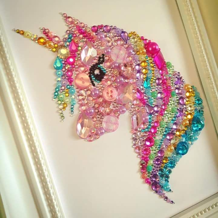 sparkly unicorn art #unicorncrafts