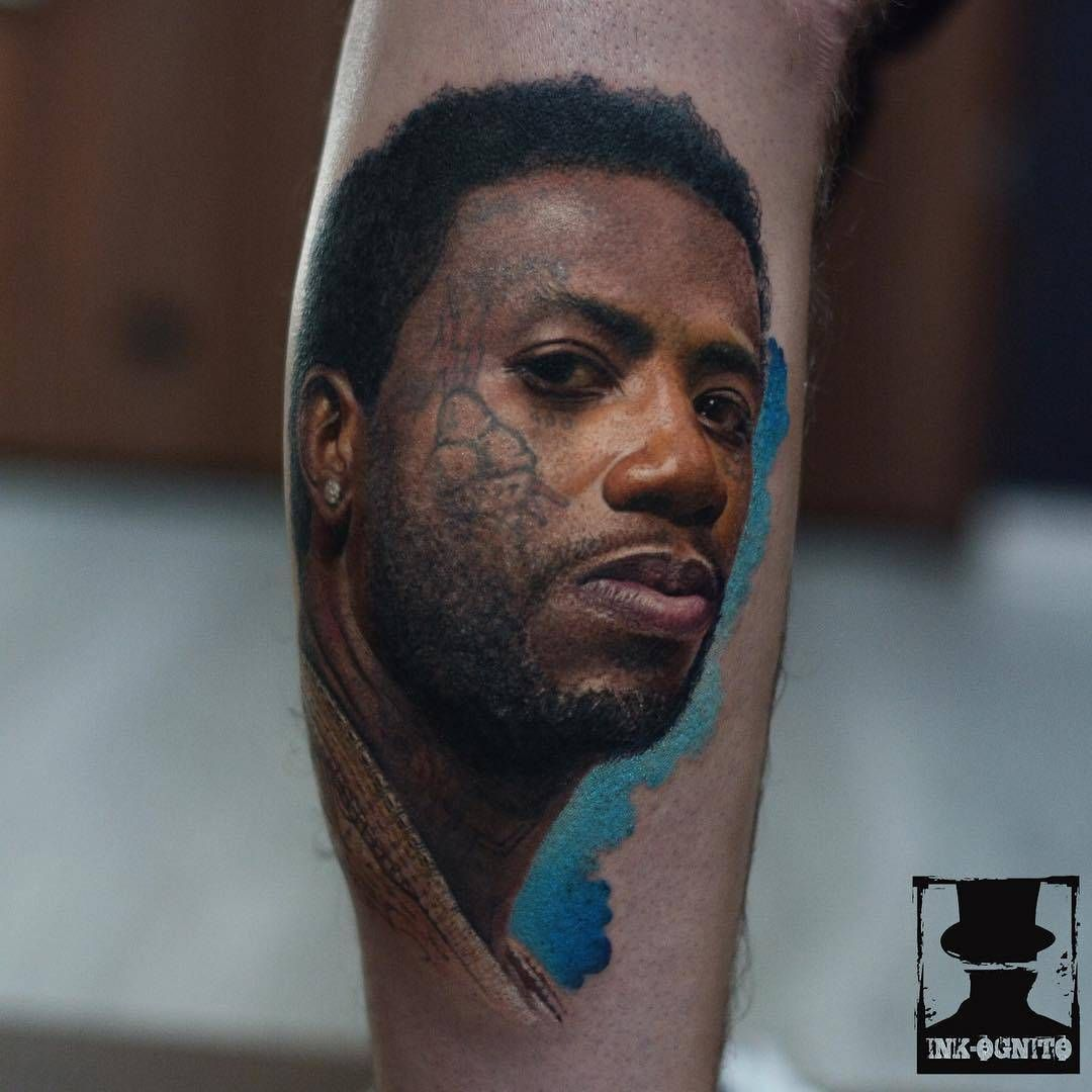 This is a graphic of Revered Gucci Mane Tattoo Drawing