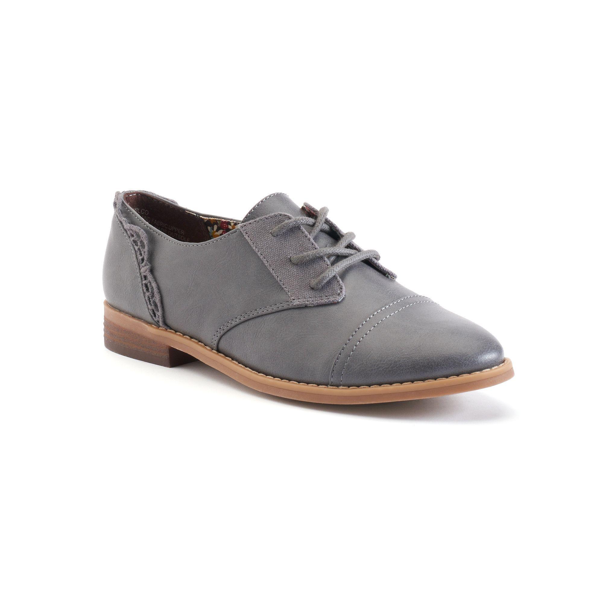 sugar Wilco Women's Cap Toe Oxford Shoes, Size: medium (6), Grey