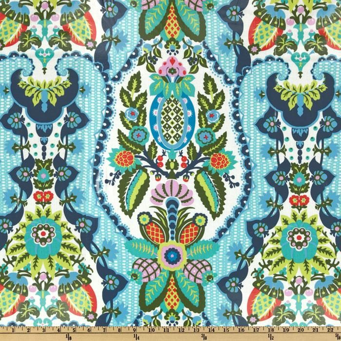 Amy Butler Cameo Laminated Cotton Harriet's Kitchen Sugar - for wipeable placemats, it's machine washable too