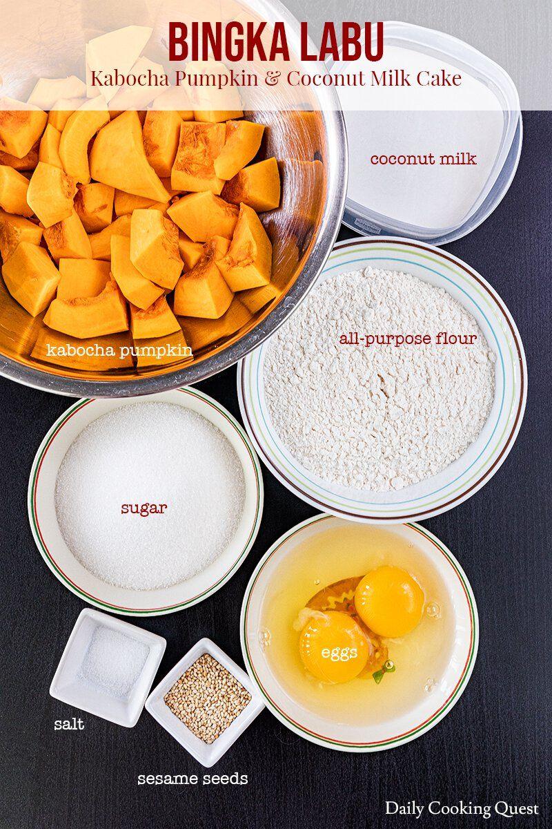 Bingka Labu Kabocha Pumpkin And Coconut Milk Cake Resep Resep Masakan Resep Kue Masakan