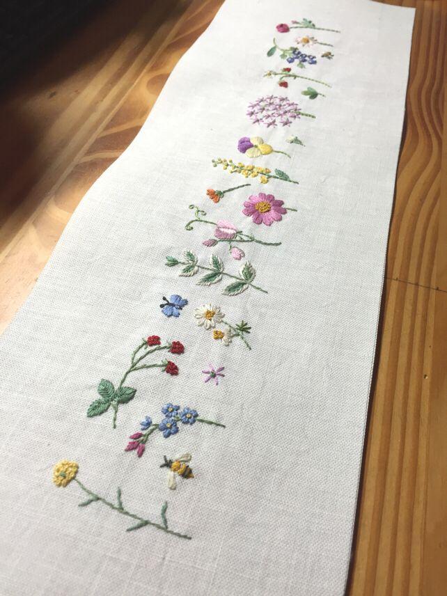 Camino de mesa | Embroidery | Pinterest | Bordado, Bordado a mano y ...