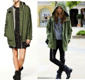 Details about Womens Cool Stylish Military Parka Trench Coat ...