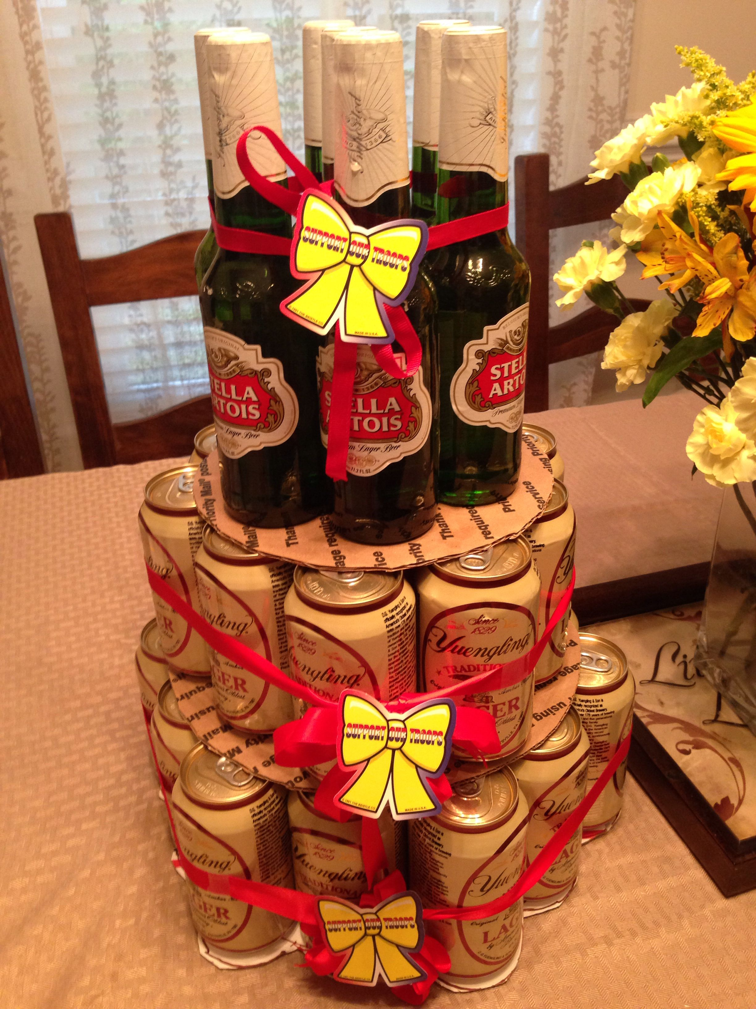 Beer cake home diy us navy deploymentyellow