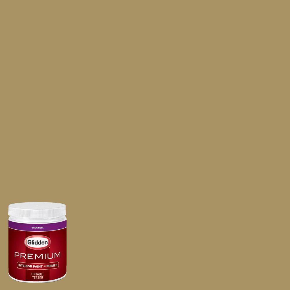 Glidden Premium 8 oz. #HDGY65 Teagreen Eggshell Interior Paint with Primer Tester