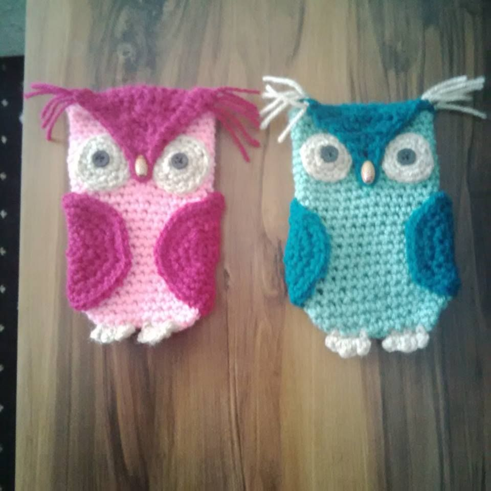 Crochet owl phone cases from free pattern http://www ...