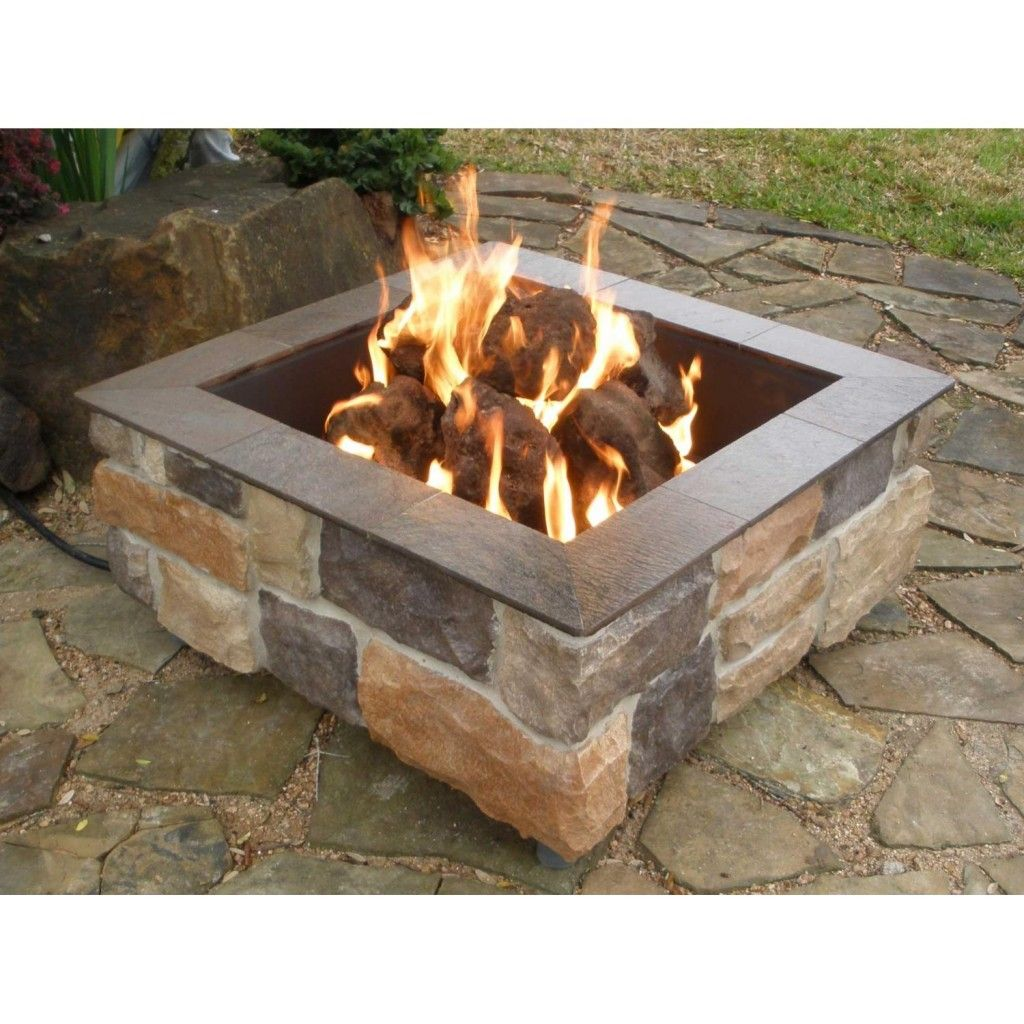 Stylish Lowes Square Fire Pit Insert For Nice Lowes Outdoor Fire