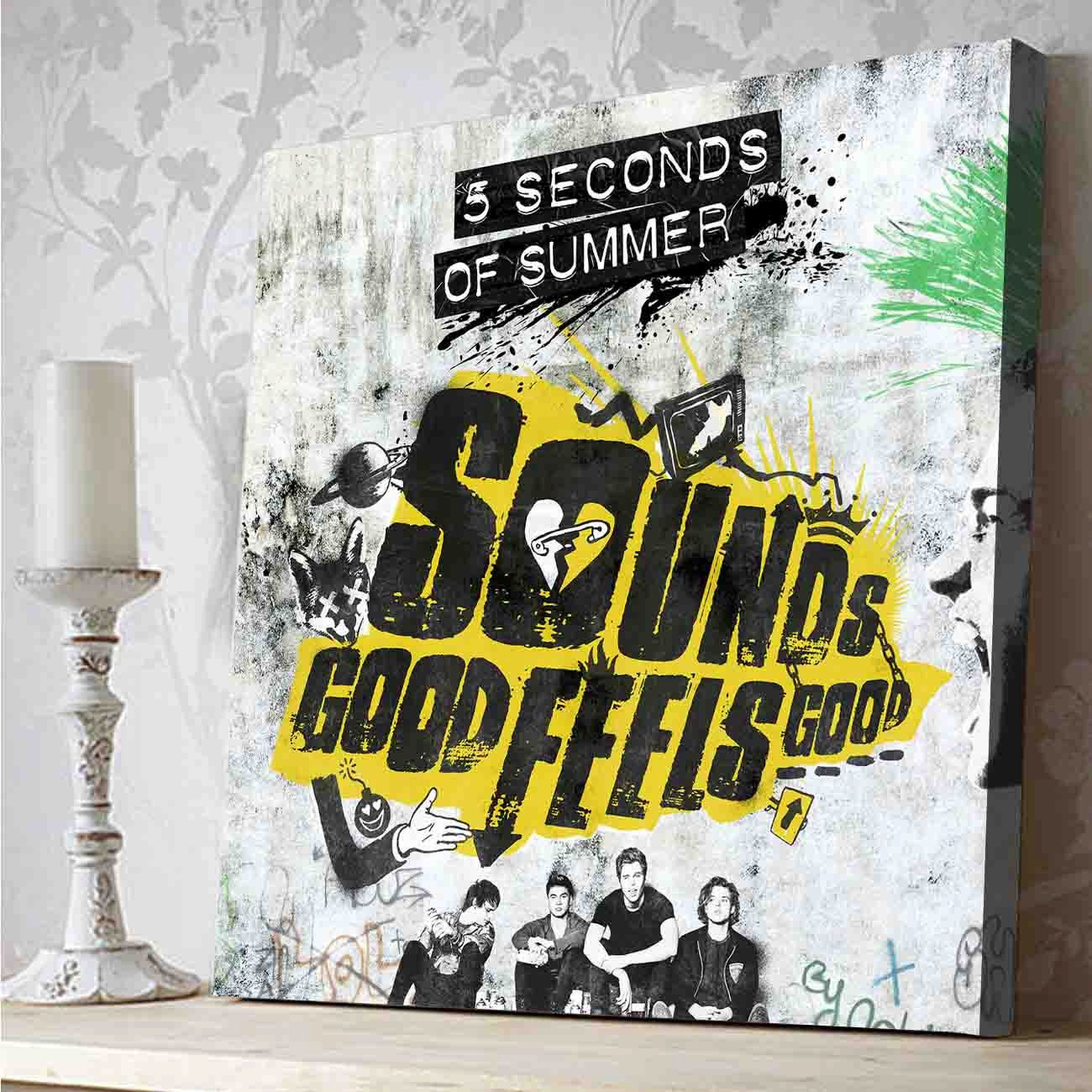 5 Seconds Of Summer Sounds Good Feels Good Canvas Print By