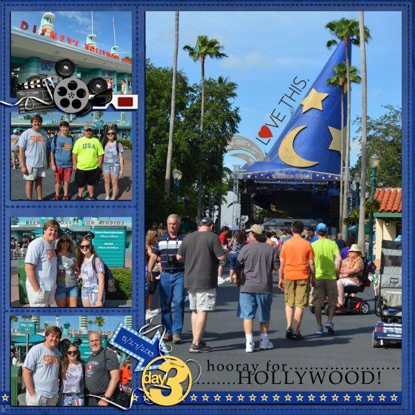 Hooray for Hollywood! - MouseScrappers - Disney Scrapbooking Gallery