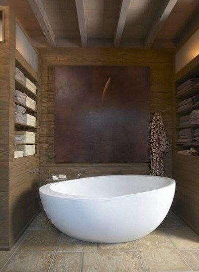 Modern Egg Shaped Freestanding Oval Bathtub With Freestanding Floor Mounted  Tub Filler