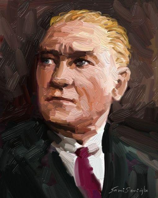 Ataturk Portresi Yagli Boya Portre Calismasi Portre Poertre Resimleri Resim