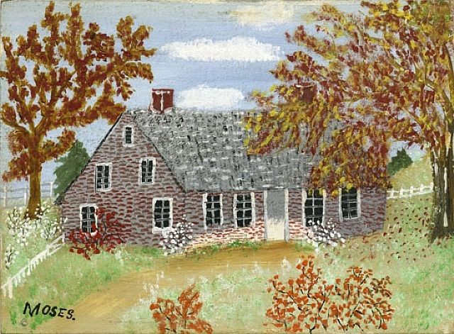 Old House © Grandma Moses Properties Co., New York by Grandma Moses from Galerie St. Etienne