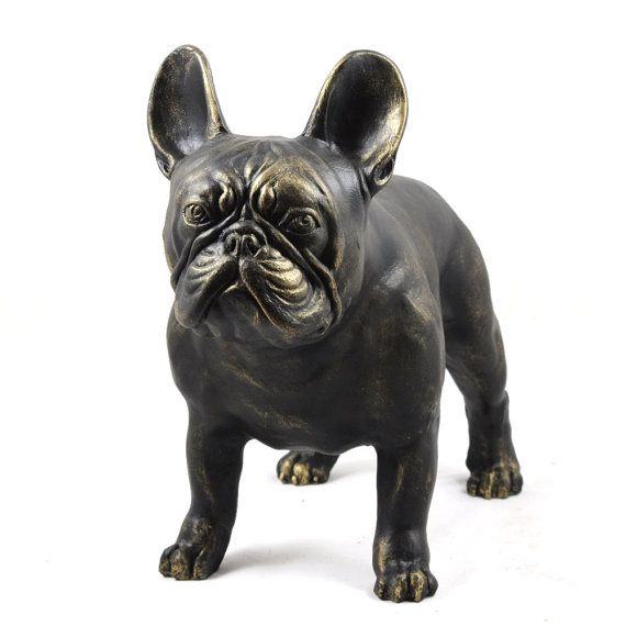French Bulldog dog natural size statue limited by