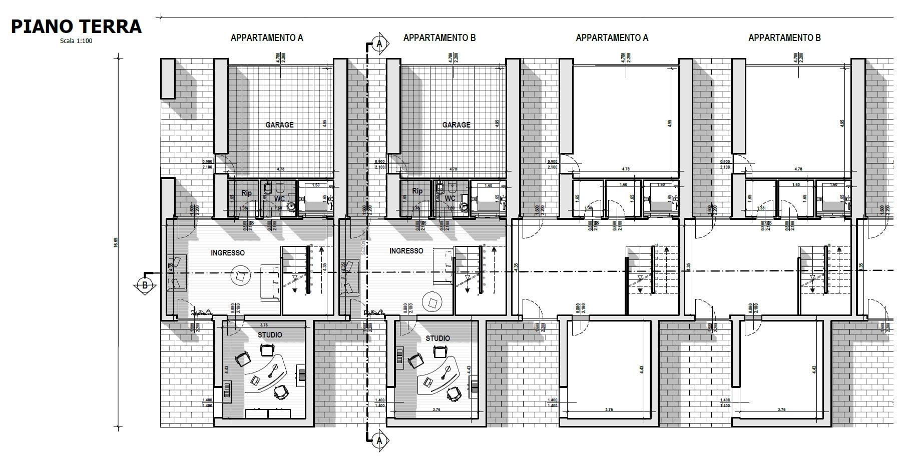 Case a schiera di architetti famosi m botta pianta for Piante case moderne