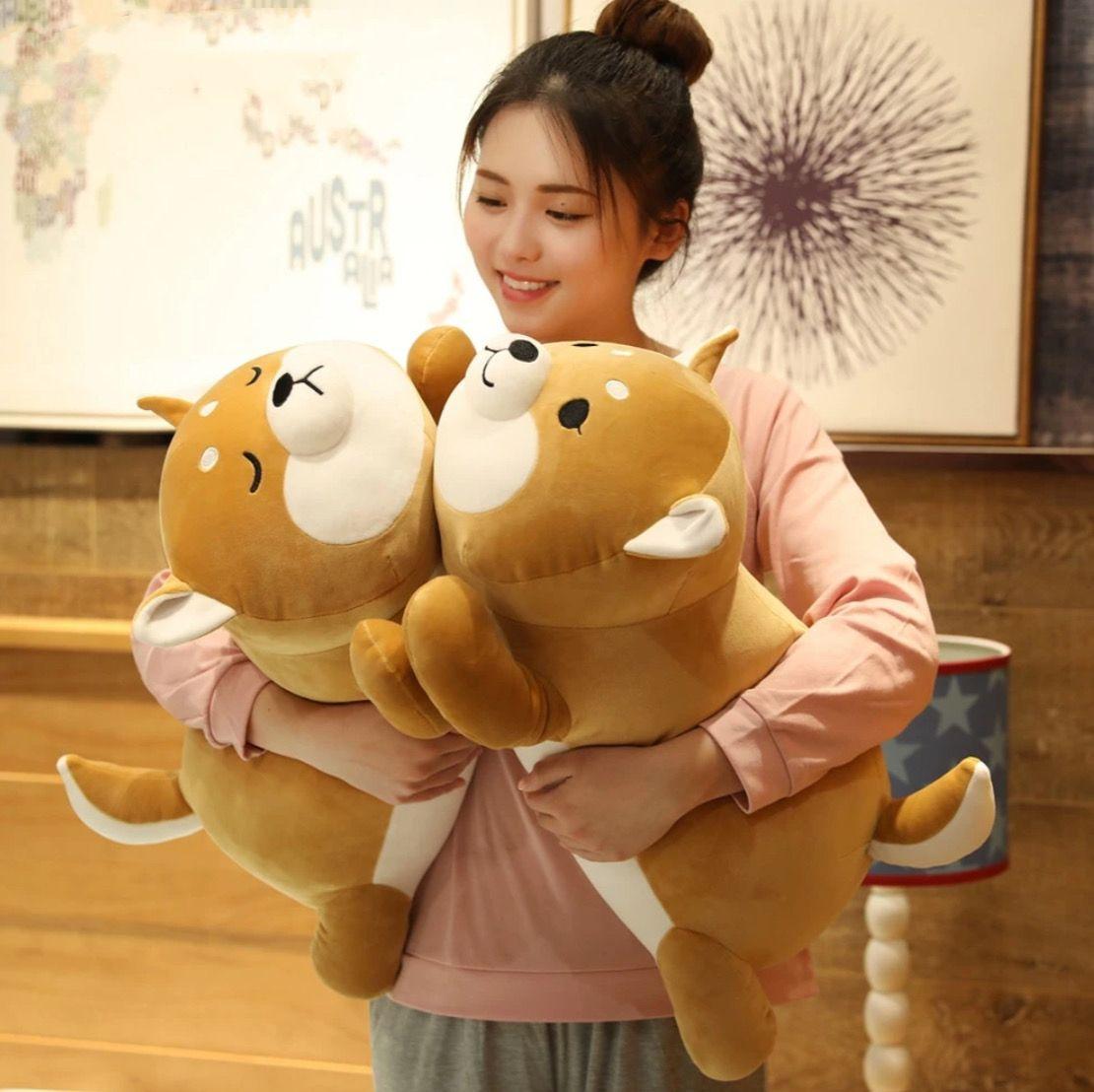 Lying Shiba Inu Plush Pillow Dog Plushie Cushion In 2020 Cute Corgi Shiba Inu Animal Dolls