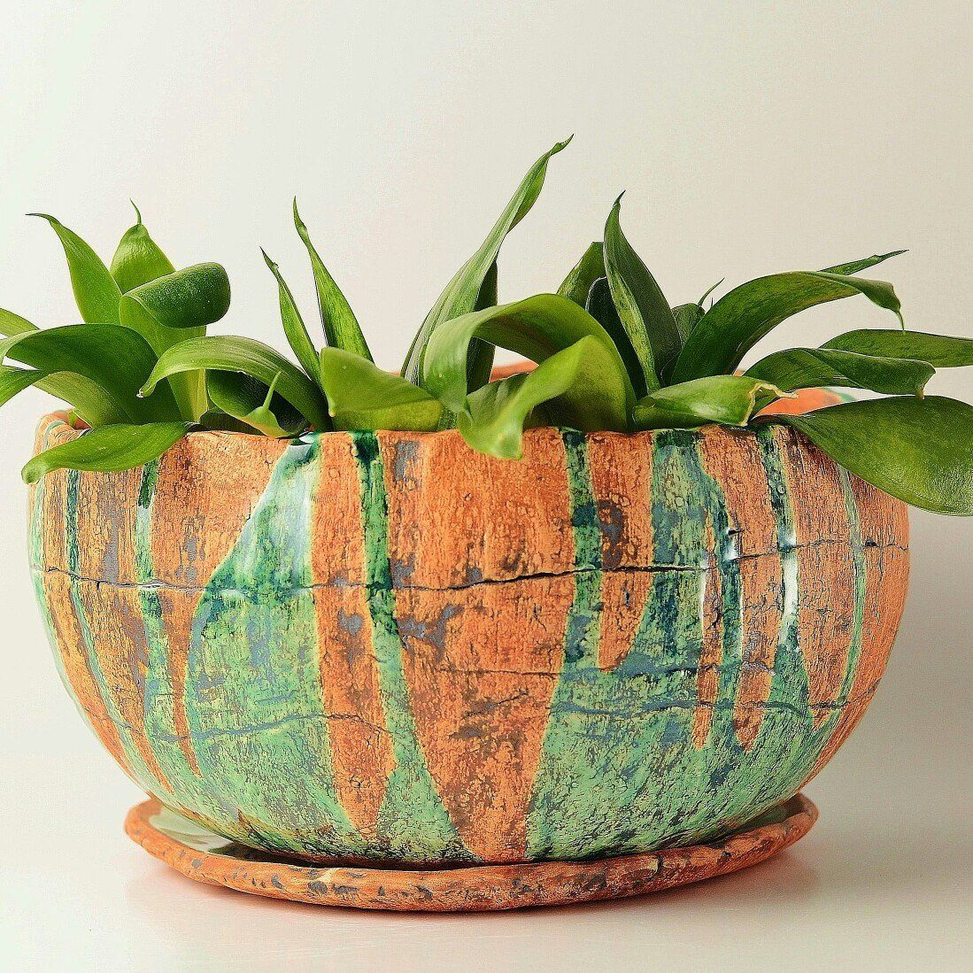 Rustic Large Ceramic Planter Pot 1 With Drainage And Saucer Etsy Ceramic Planter Pots Ceramic Flower Pots Planter Pots