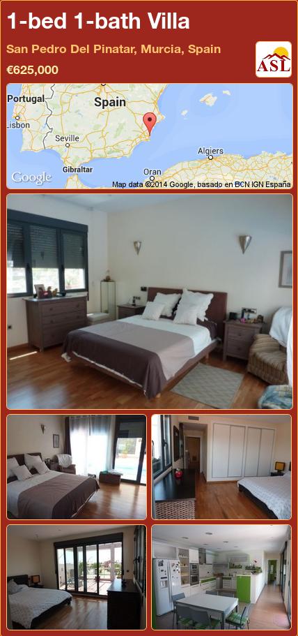 1-bed 1-bath Villa in San Pedro Del Pinatar, Murcia, Spain ►€625,000 #PropertyForSaleInSpain